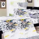 MH01021-3 [Sporting  Style] 100% Cotton 4PC Comforter Cover/Duvet Cover Combo (Queen Size)