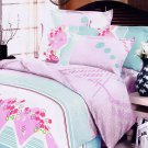 MH01024-4 [Crystal Cherry] 100% Cotton 4PC Comforter Cover/Duvet Cover Combo (King Size)