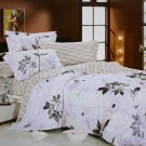 zt01003-2 [Faint Aroma] 100% Cotton 4PC Comforter Cover/Duvet Cover Combo (Full Size)