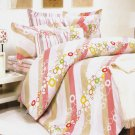 CFRS(DDX24-4/CFR01-4) [Pink Princess] Luxury 5PC Comforter Set Combo 300GSM (King Size)