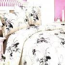 CFRS(HM09-2/CFR01-2) [Spring Rose] Luxury 5PC Comforter Set Combo 300GSM (Full Size)
