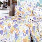 CFRS(MF02-2/CFR01-2) [Purple Orange Flowers] Luxury 5PC Comforter Set Combo 300GSM (Full Size)