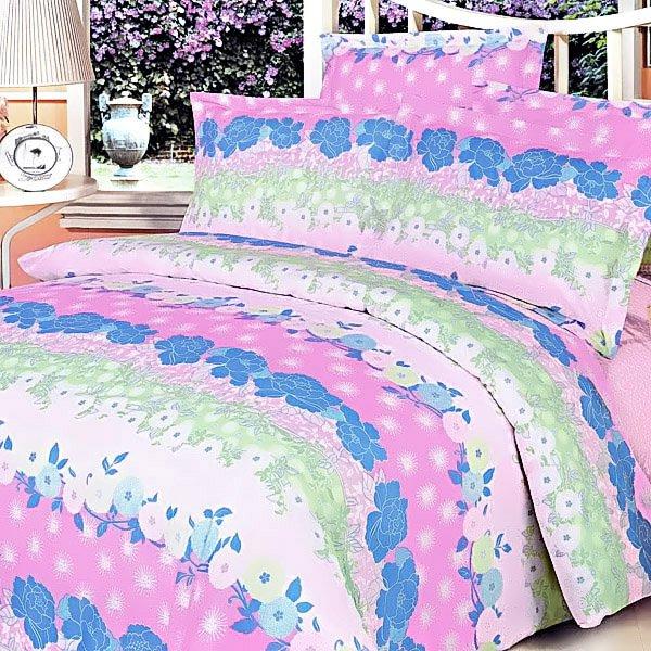 CFRS(MF11-3/CFR01-3) [Pink Kaleidoscope] Luxury 5PC Comforter Set Combo 300GSM (Queen Size)
