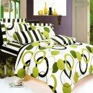 CFRS(MF29-4/CFR01-4) [Artistic Green] Luxury 8PC MEGA Comforter Set Combo 300GSM (King Size)