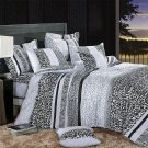 CFRS(MF71-1/CFR01-1) [Snow Leopard] Luxury 4PC Comforter Set Combo 300GSM (Twin Size)