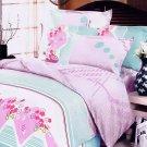 CFRS(MH24-4/CFR01-4) [Crystal Cherry] Luxury 5PC Comforter Set Combo 300GSM (King Size)