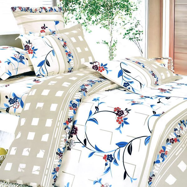 CFRS(MH34-2/CFR01-2) [Palace Wall] Luxury 5PC Comforter Set Combo 300GSM (Full Size)