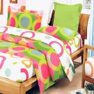 BIAB(DDX20-1/CFR01-1/PLW01x1) [Rhythm of Colors] 7PC MEGA Bed In A Bag Combo 300GSM (Twin Size)