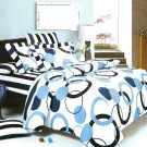 BIAB(MF61-4/CFR01-4/PLW01x2) [Artistic Blue] 10PC MEGA Bed In A Bag Combo 300GSM (King Size)