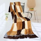 ONITIVA-BLK-026 [Plaids - Naturally Chic] Soft Coral Fleece Patchwork Throw Blanket (59 by 78.7 inch