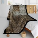 ONITIVA-BLK-078 [Refined Taste] Animal Style Patchwork Throw Blanket (61 by 86.6 inches)