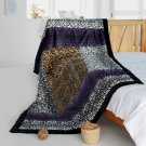 ONITIVA-BLK-080 [Wild Jungle] Animal Style Patchwork Throw Blanket (61 by 86.6 inches)
