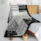ONITIVA-BLK-082 [Fashion Charm] Stylish Patchwork Throw Blanket (61 by 86.6 inches)