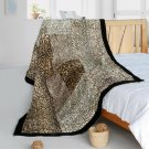 ONITIVA-BLK-087 [Magic Leopard] Animal Style Patchwork Throw Blanket (61 by 86.6 inches)
