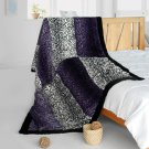 ONITIVA-BLK-089 [Leopard Secret] Animal Style Patchwork Throw Blanket (61 by 86.6 inches)