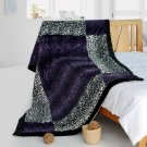 ONITIVA-BLK-093 [Peace Journey] Patchwork Throw Blanket (61 by 86.6 inches)