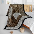 ONITIVA-BLK-097 [Colorful Mood] Patchwork Throw Blanket (61 by 86.6 inches)