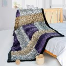 ONITIVA-BLK-103 [Time Travel] Patchwork Throw Blanket (61 by 86.6 inches)