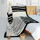 ONITIVA-BLK-105 [Classic Stripe] Patchwork Throw Blanket (61 by 86.6 inches)