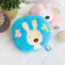 HT-CB001-BLUE [Sugar Rabbit - Round Blue] Blanket Pillow Cushion (25.2 by 37 inches)