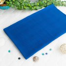 LD-BLK007-DARKBLUE [Dark Blue] 100% Cotton Jacquard Weave Throw Blanket (61 by 54 inches)