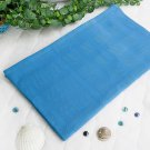LD-BLK007-DEEPSKYBLUE [Deep Sky Blue] 100% Cotton Jacquard Weave Throw Blanket (50 by 59.8 inches)