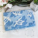 TB-BLK002 [Sea Turtle - Blue] Japanese Coral Fleece Baby Throw Blanket (26 by 39.8 inches)