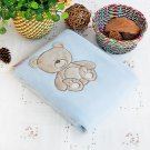 TB-BLK010 [Lovely Bear] Embroidered Applique Polar Fleece Baby Throw Blanket (30.7 by 39.4 inches)