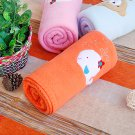 TB-BLK013-WHALE [White Whale - Orange] Fleece Baby Throw Blanket (29.5 by 39.4 inches)