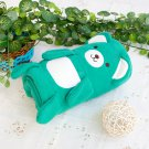 TB-BLK015-GREEN [Happy Bear - Green] Fleece Baby Throw Blanket (42.5 by 59.1 inches)