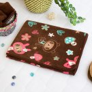 TB-BLK017-BEAR [Brown Dancing Bear] Fleece Throw Blanket In A String Bag (30.7 by 46.9 inches)
