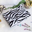 TB-BLK018-WHITE [Animal Zebra - White] Coral Fleece Throw Blanket (59.1 by 78.7 inches)