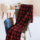 TB-BLK023 [Scotch Plaids - Festive Red] Soft Coral Fleece Throw Blanket (71 by 79 inches)