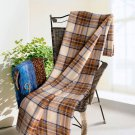 TB-BLK042 [Scotch Plaids] Soft Coral Fleece Throw Blanket (59 by 79 inches)
