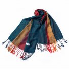 Pa-a82-1 Multi-Colors Rose & Paisley National Style Exquisite Soft Tassel Ends Pashmina