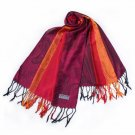 Pa-a82-3 Multi-Colors Rose & Paisley National Style Exquisite Soft Tassel Ends Pashmina