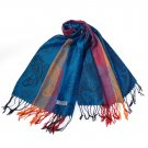 Pa-a82-4 Multi-Colors Rose & Paisley National Style Exquisite Soft Tassel Ends Pashmina