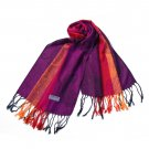 Pa-a82-5 Multi-Colors Rose & Paisley National Style Exquisite Soft Tassel Ends Pashmina