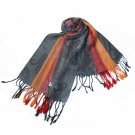 Pa-a82-7 Multi-Colors Rose & Paisley National Style Exquisite Soft Tassel Ends Pashmina