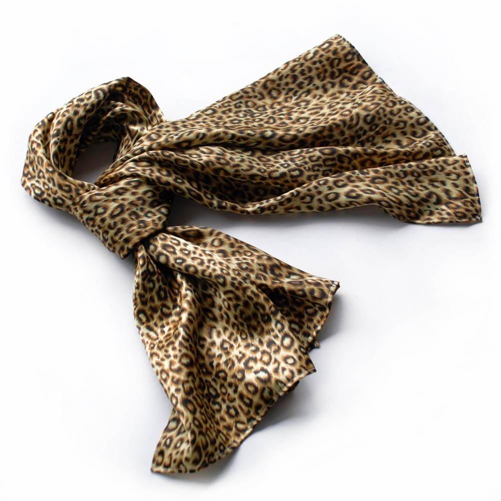 BRA-SCA01006-L Brando Chic Leopard Grain Color Super Soft Silk Scarf(Large)