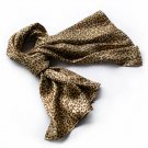 BRA-SCA01006-S Brando Chic Leopard Grain Color Super Soft Silk Scarf(Small)
