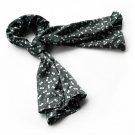 BRA-SCA01014-L Brando Black Lovely Bowknot Design Natural Elegant Silk Scarf(Large)