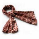 BRA-SCA01019-S Brando Red & Ivory Distinctive Leopard Animal Print Soft Silk Scarf(Small)