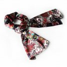 BRA-SCA01041-L Brando Burgundy Distinctive Paisley Pattern Fashion Soft Silky Scarf(Large)
