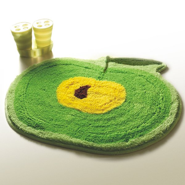 NAOMI-DA4845-1 [Green Apple] Kids Room Rugs (20.9 by 22 inches)