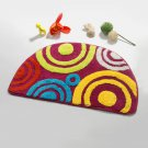 NAOMI-DA5138-3 [Sweet Doughnut] Beautiful Room Rugs (15.7 by 24.8 inches)