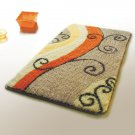 NAOMI-DA5847 [Flourish] Wool Throw Rugs (17.7 by 25.6 inches)