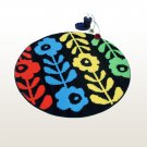 NAOMI-DA7256-CIR [Colorful Flower World] Round Home Rugs (35.4 by 35.4 inches)