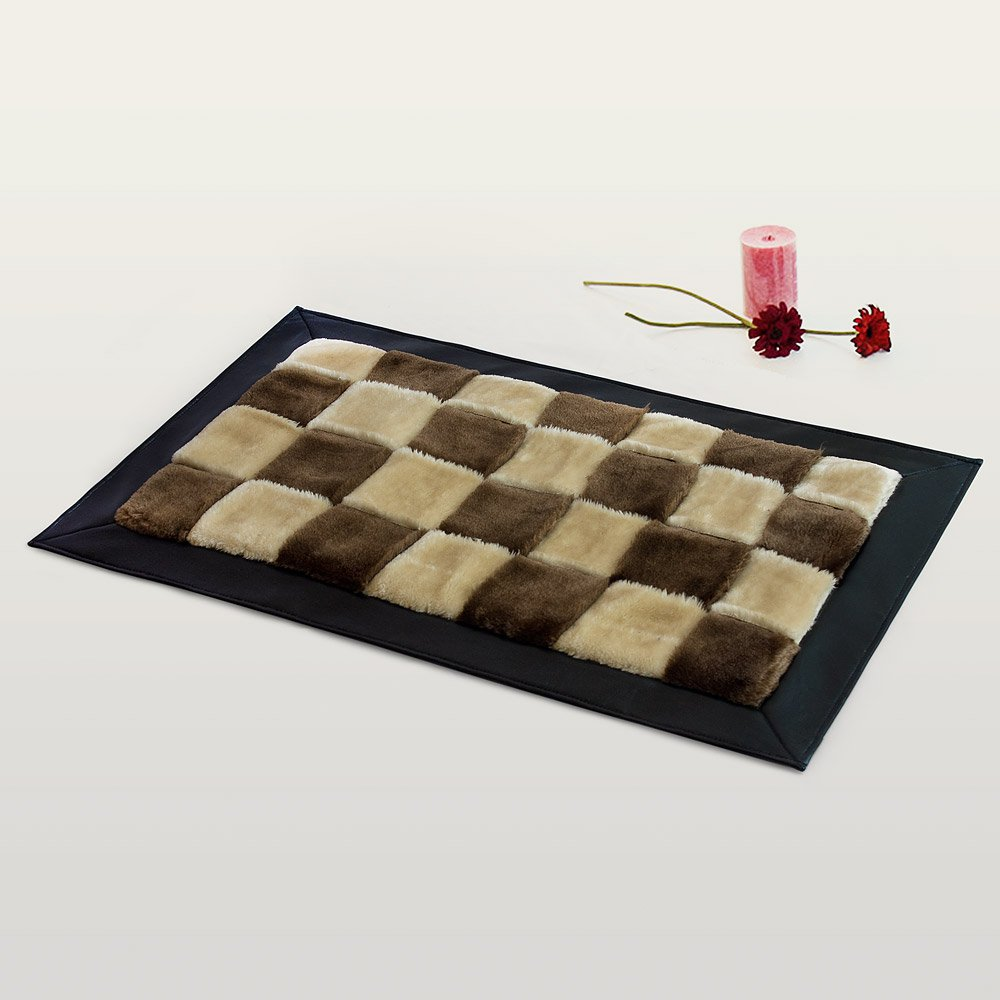 onitiva-rug01016-rec [Chocolate & Butter] Handwoven Home Rugs (19.7 by 31.5 inches)
