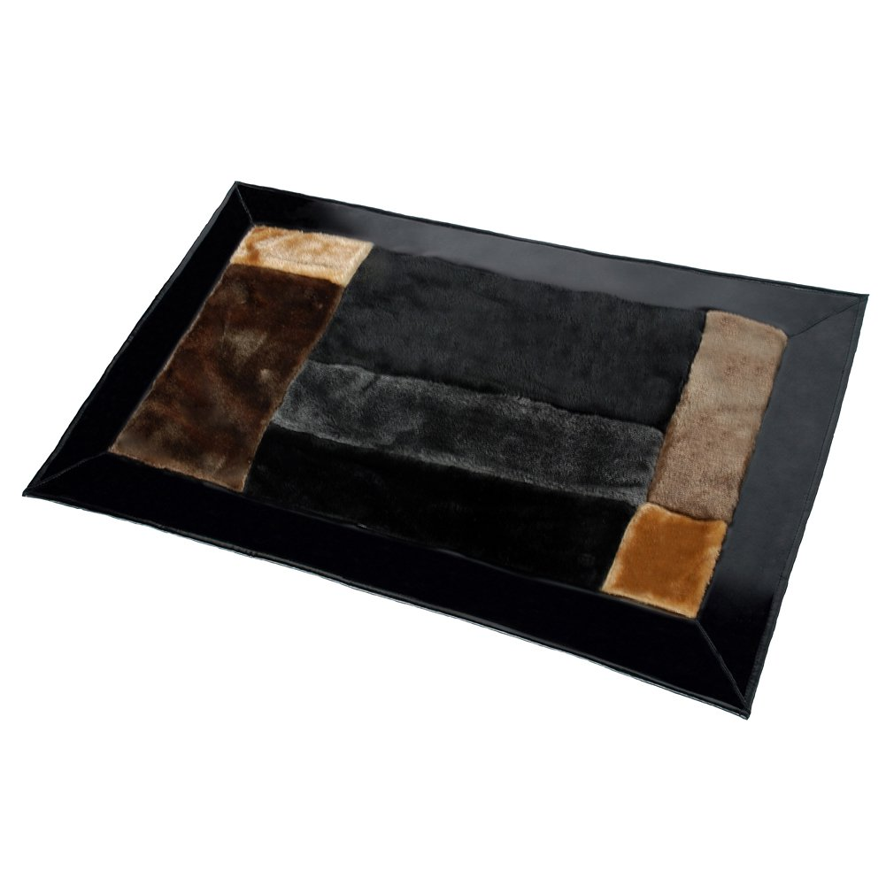 ONITIVA-RUG01035-REC [Coffee Cheese ] Patchwork Rugs (19.7 by 31.5 inches)